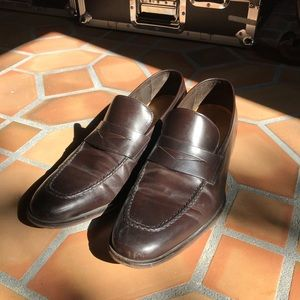 Cole Haan Burgundy Penny Loafers